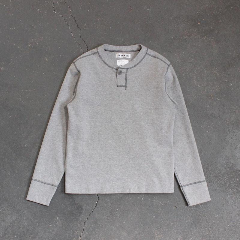 miranoribu cotton henley neck/GY