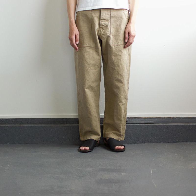 original cotton twill/baker pants:beige/size1・2