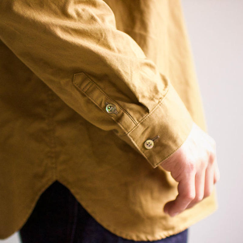 weather cloth shirt/brown/size2(MAN)
