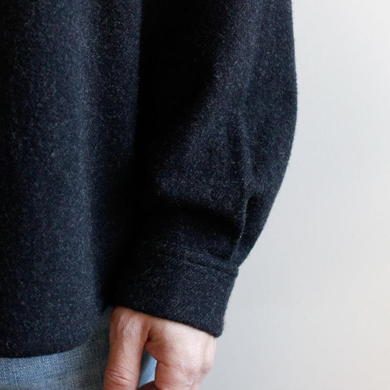 powderyarn eamirudo wool shirt/charcoal gray/size2(MAN)