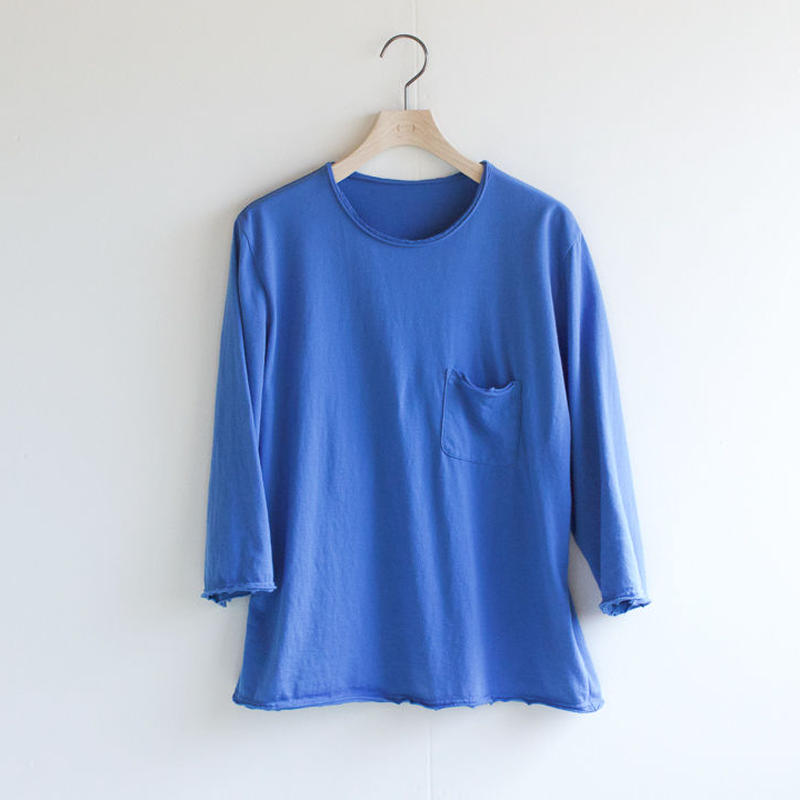 pj cotton 25s/ pocket cut off  t-shirt/blue/size1・2