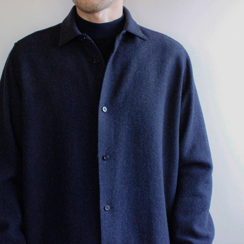 powderyarn eamirudo wool shirt/navy/size2(MAN)