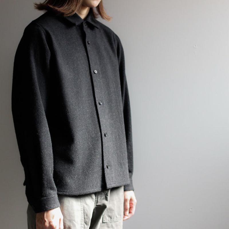 powderyarn eamirudo wool shirt/charcoal gray