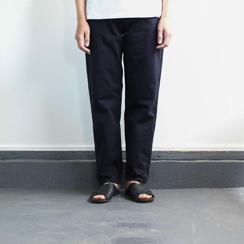 cotton twill pants/navy