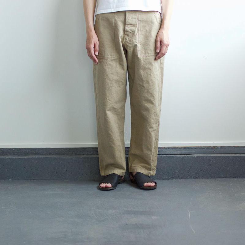 original cotton twill/baker pants:beige