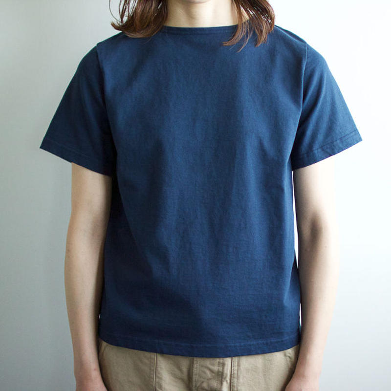 pablo cotton/center back tshirt / indigo blue/size1・2/size2sold