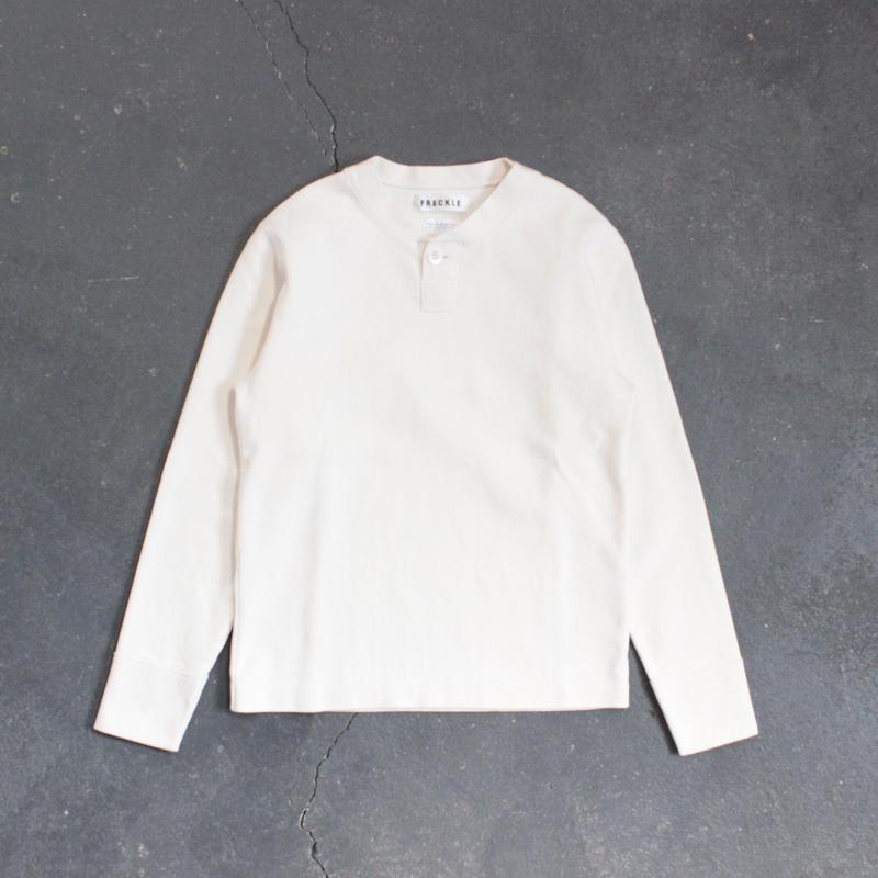 miranoribu cotton henley neck/KINARI