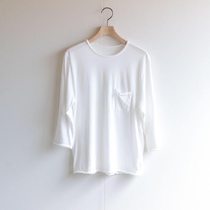 pj cotton 25s/ pocket cut off  t-shirt/white/size1・2