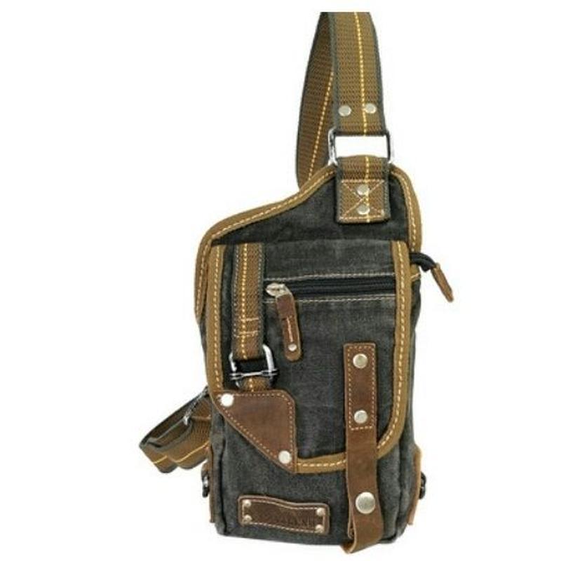 デニム素材手ぶらコーデコンパクト斜めがけバッグ