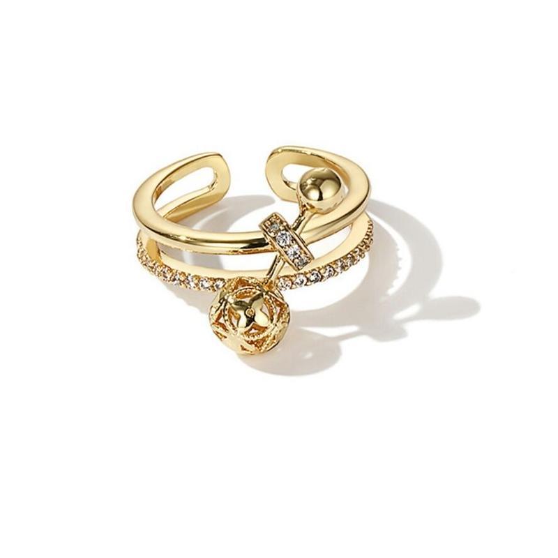 指元のポインにトリュクス/ラウンドビジューロング指輪
