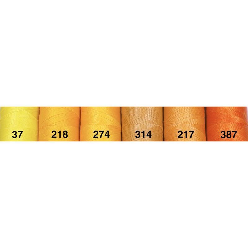 <136色・黄橙系>Linhasita社製ワックスコード0.75mm(ロウビキ紐・蝋引き紐 ・waxcord)