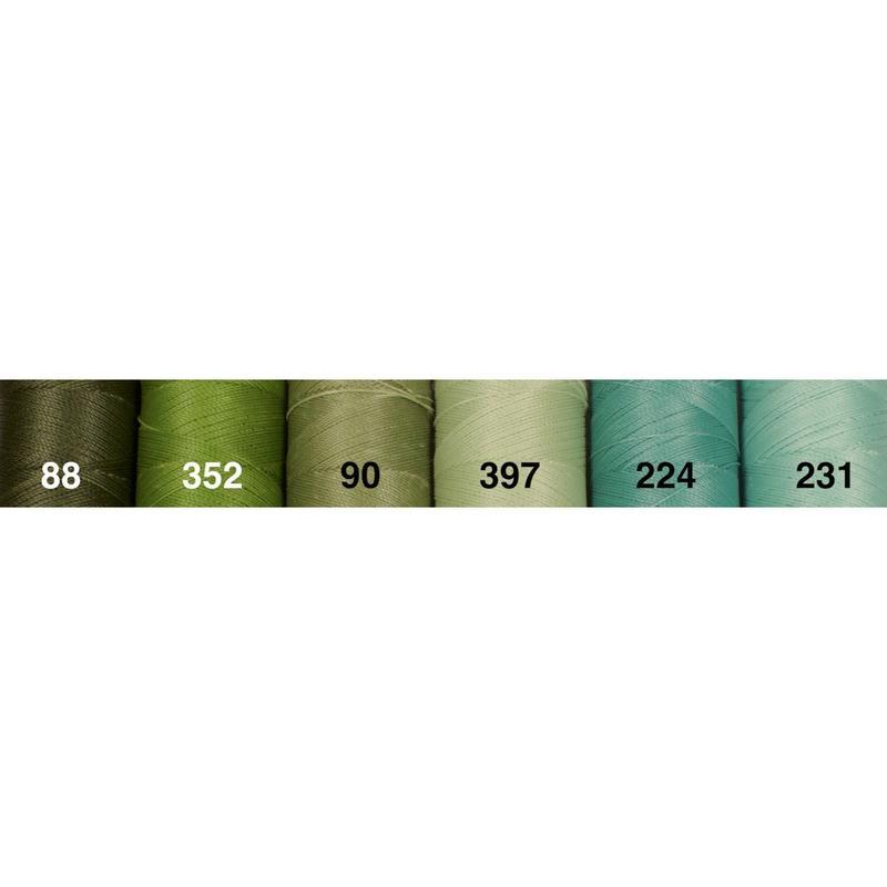 <136色・緑系>Linhasita社製ワックスコード0.75mm(ロウビキ紐・蝋引き紐 ・waxcord)