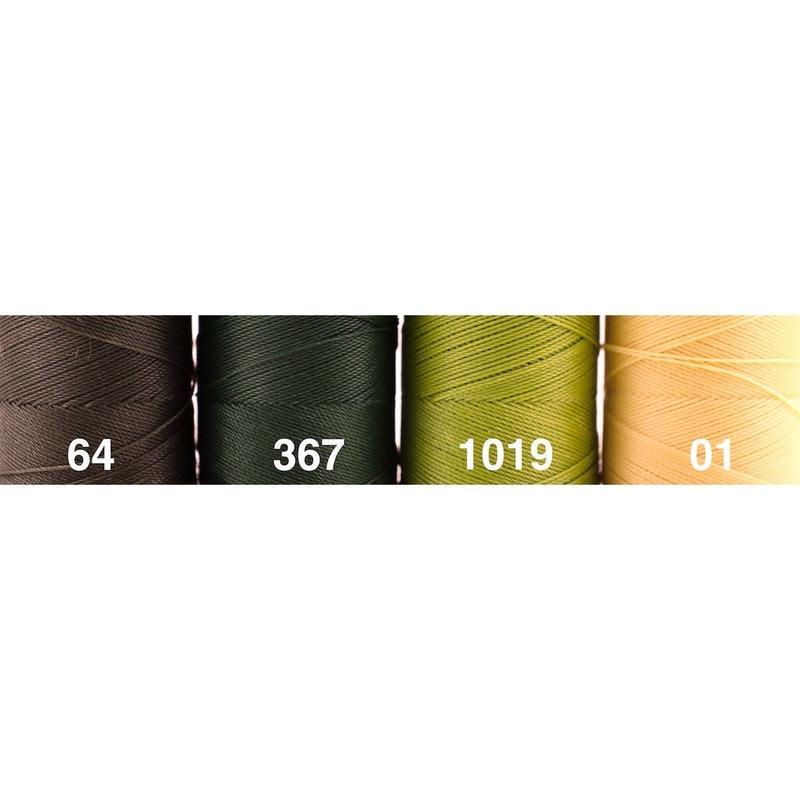 <136色・緑黄系>Linhasita社製ワックスコード0.75mm(ロウビキ紐・蝋引き紐 ・waxcord)