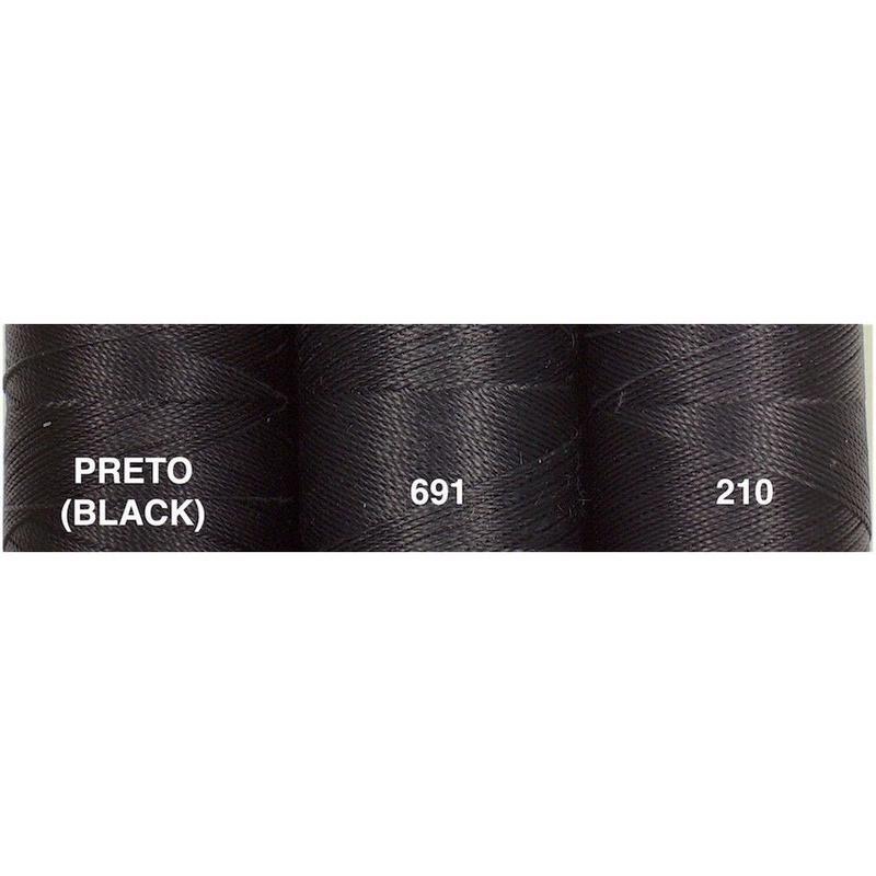 <136色・黒系>Linhasita社製ワックスコード0.75mm(ロウビキ紐・蝋引き紐 ・waxcord)
