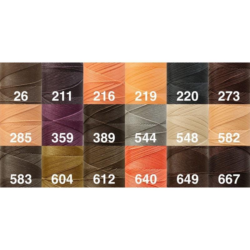 <136色・2019入荷色>Linhasita社製ワックスコード0.75mm(ロウビキ紐・蝋引き紐 ・waxcord)