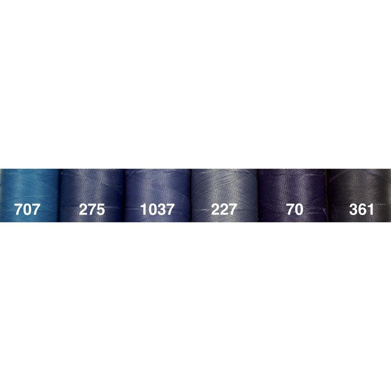 <136色・青系>Linhasita社製ワックスコード0.75mm(ロウビキ紐・蝋引き紐 ・waxcord)