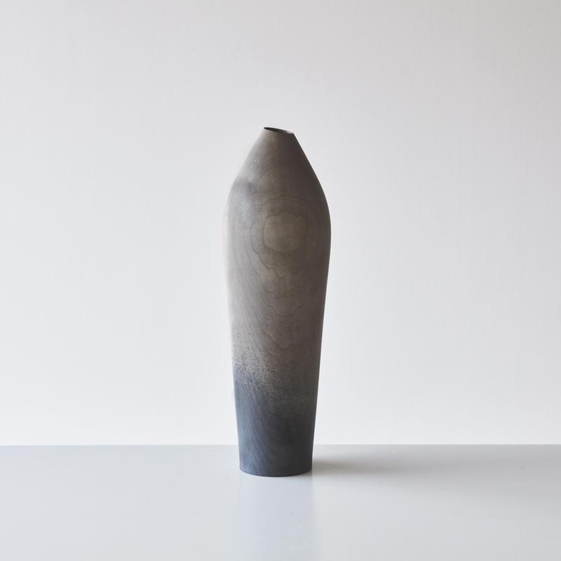 花器29cm (イタヤカエデ / 鉄媒染) 内田悠