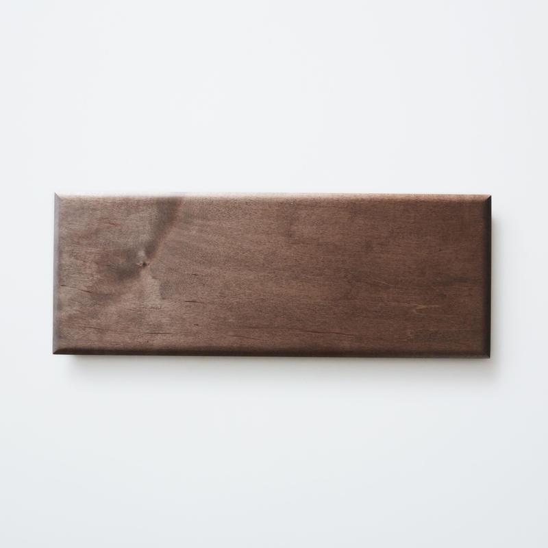 板皿34cm (イタヤカエデ / 柿渋染) 内田悠