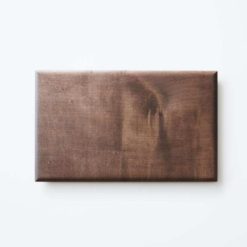 板皿26cm (イタヤカエデ / 柿渋染) 内田悠