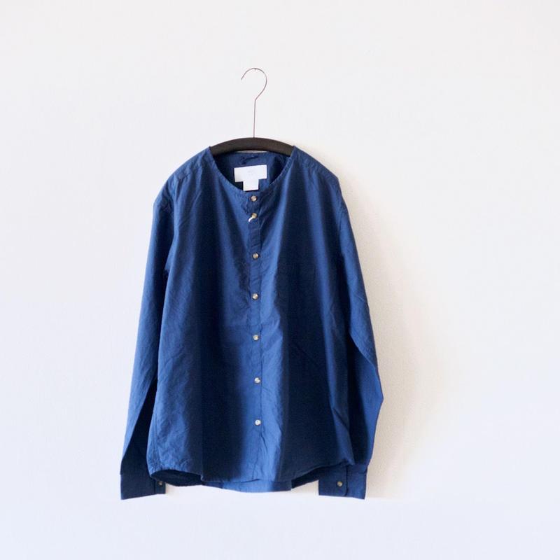 MUYA / Stand collar Nerd shirts - Blue