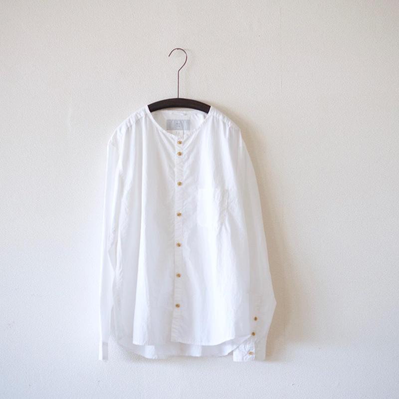 MUYA / Stand collar Nerd shirts - White