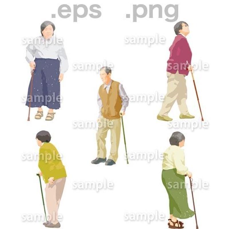 シニアイラスト (EPS , PNG )   se_041