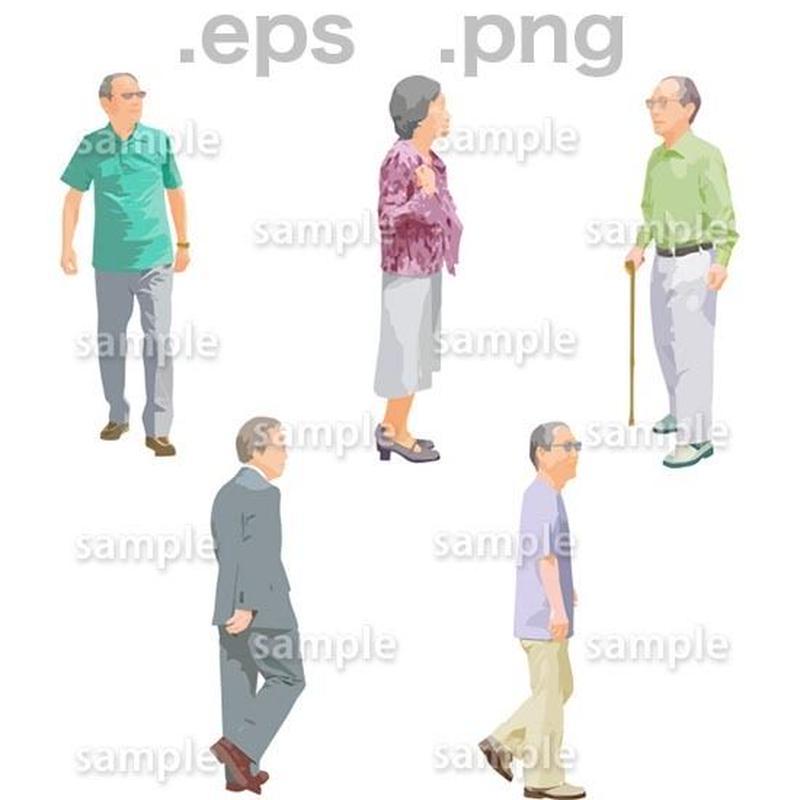 シニアイラスト (EPS , PNG )   se_140