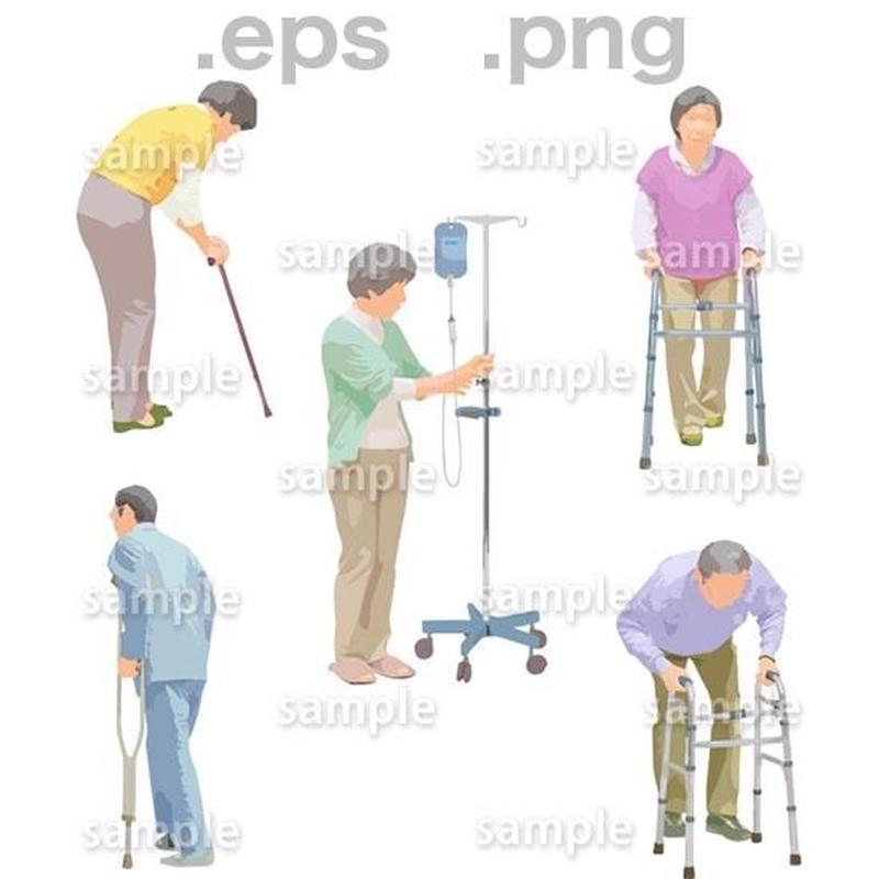 シニアイラスト (EPS , PNG )   se_242