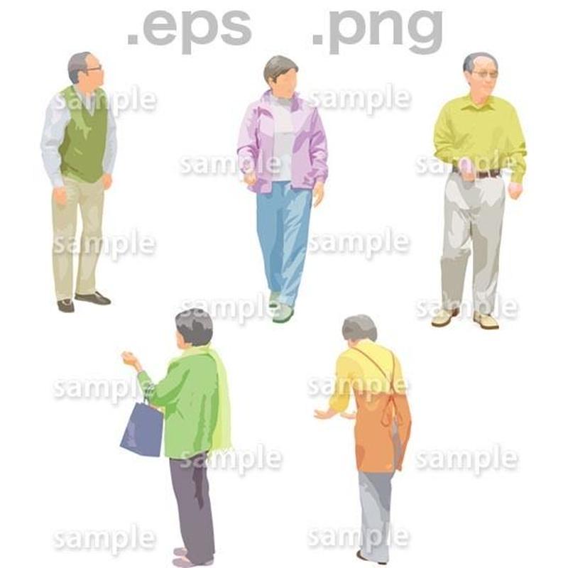 シニアイラスト (EPS , PNG )   se_131