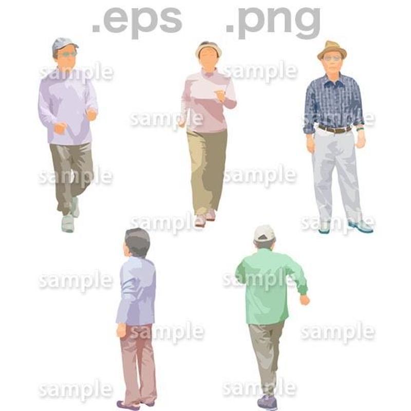 シニアイラスト (EPS , PNG )   se_134