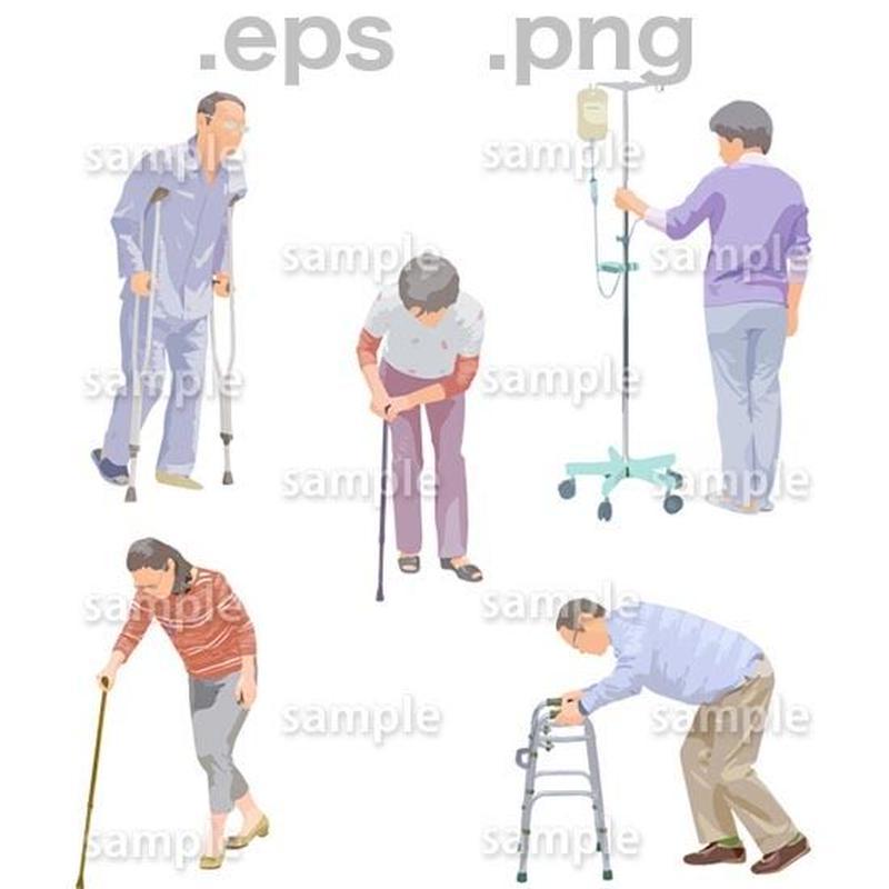 シニアイラスト (EPS , PNG )   se_239
