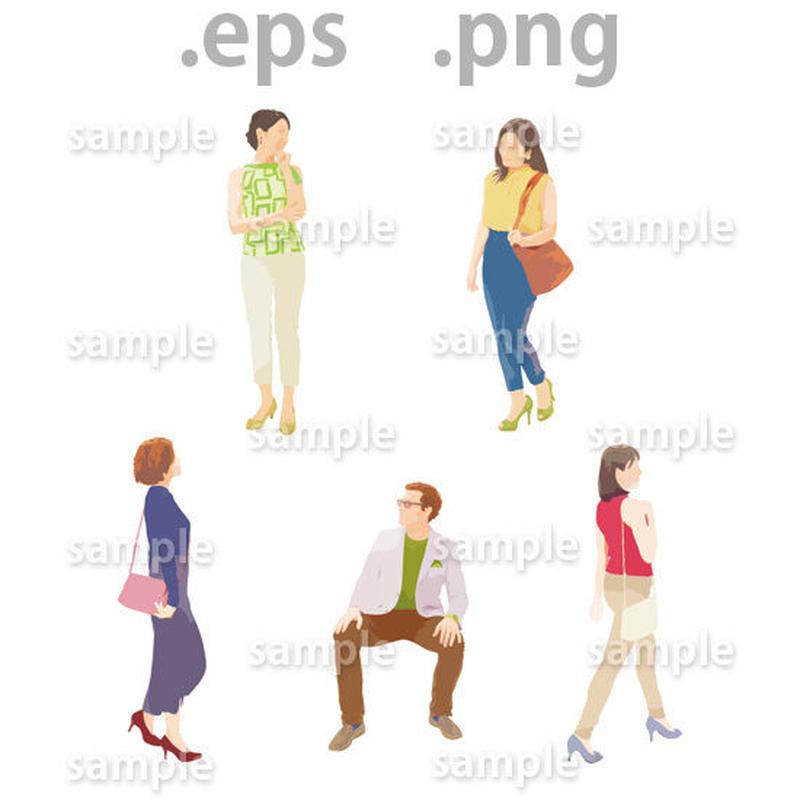 外国人イラスト (EPS , PNG )   gl_015
