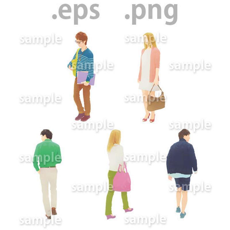 外国人イラスト (EPS , PNG )   ch_010