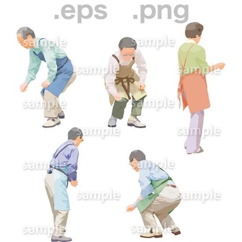 シニアイラスト (EPS , PNG )   se_149