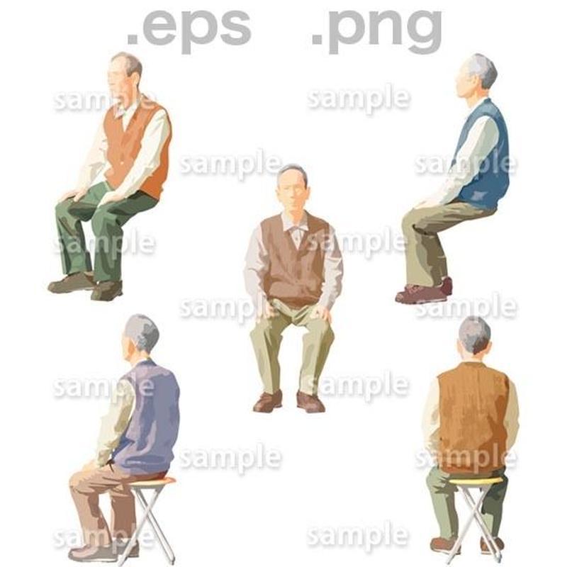 シニアイラスト (EPS , PNG )   se_044