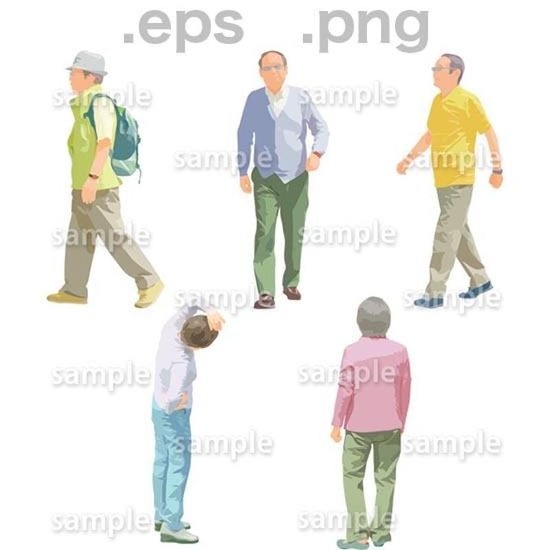 シニアイラスト (EPS , PNG )   se_135