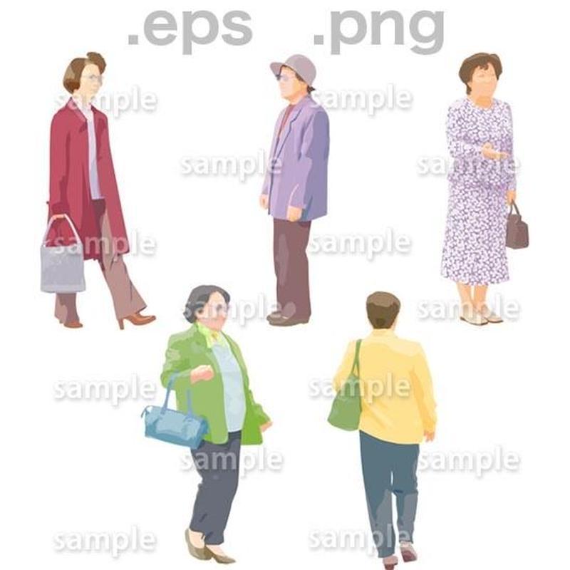 シニアイラスト (EPS , PNG )   se_061