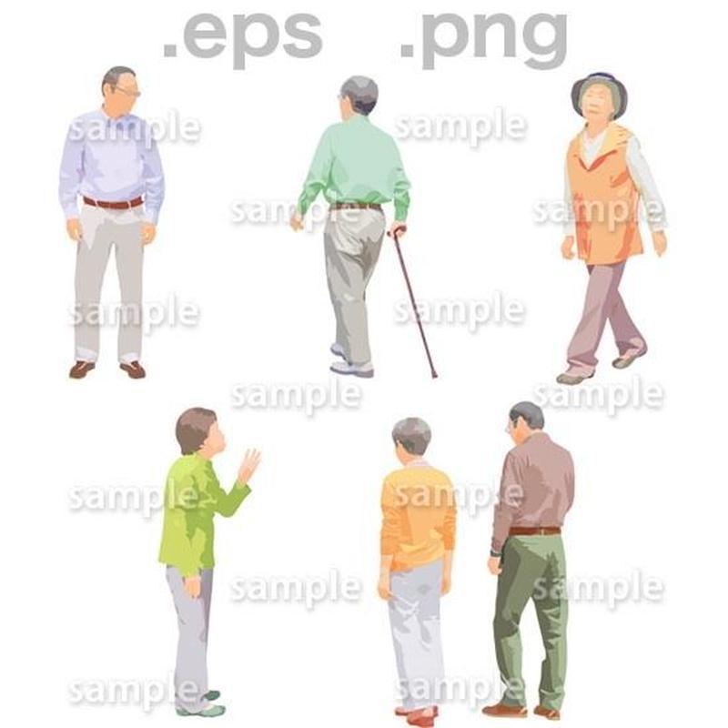 シニアイラスト (EPS , PNG )   se_121