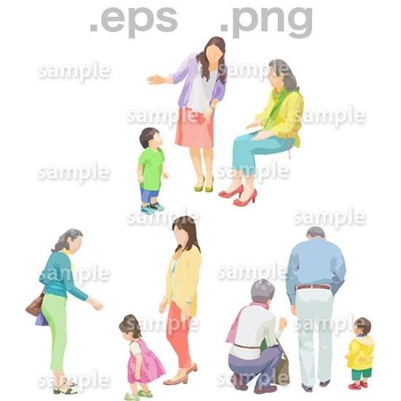 シニアイラスト (EPS , PNG )   se_105