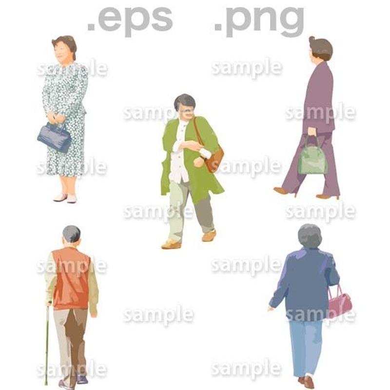 シニアイラスト (EPS , PNG )   se_043