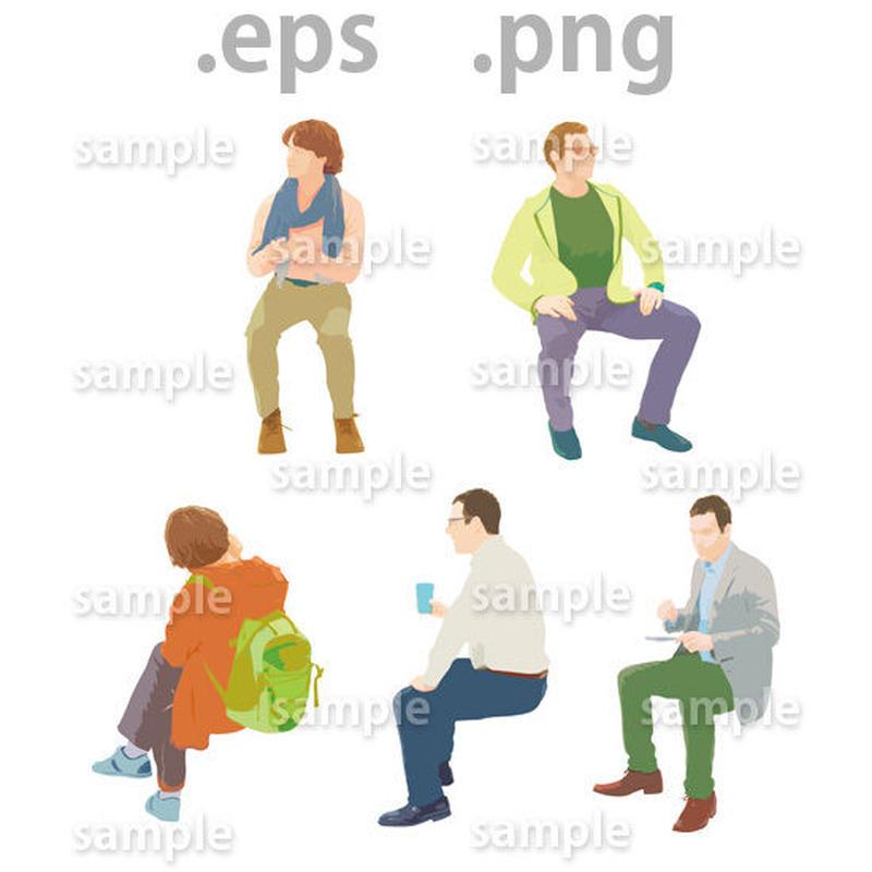 外国人イラスト (EPS , PNG )   gl_016