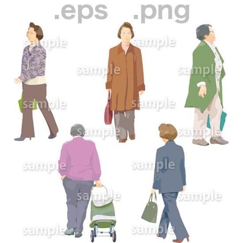 シニアイラスト (EPS , PNG )   se_077