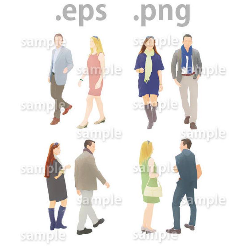 外国人イラスト (EPS , PNG )   gl_001