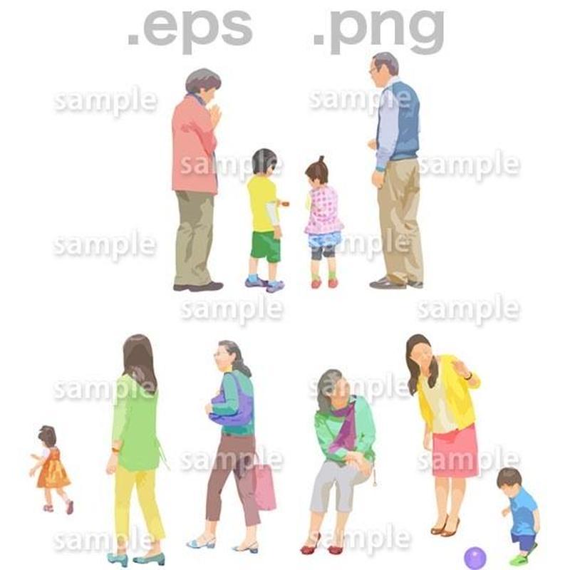 シニアイラスト (EPS , PNG )   se_103