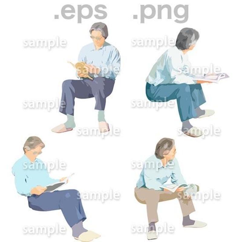 シニアイラスト (EPS , PNG )   se_059