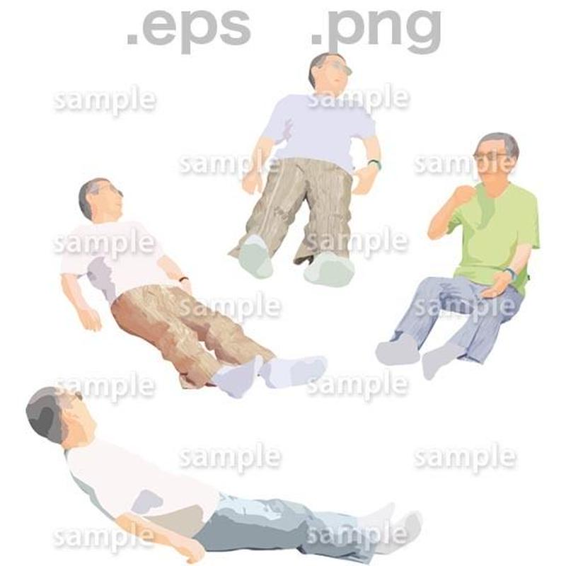 シニアイラスト (EPS , PNG )   se_258