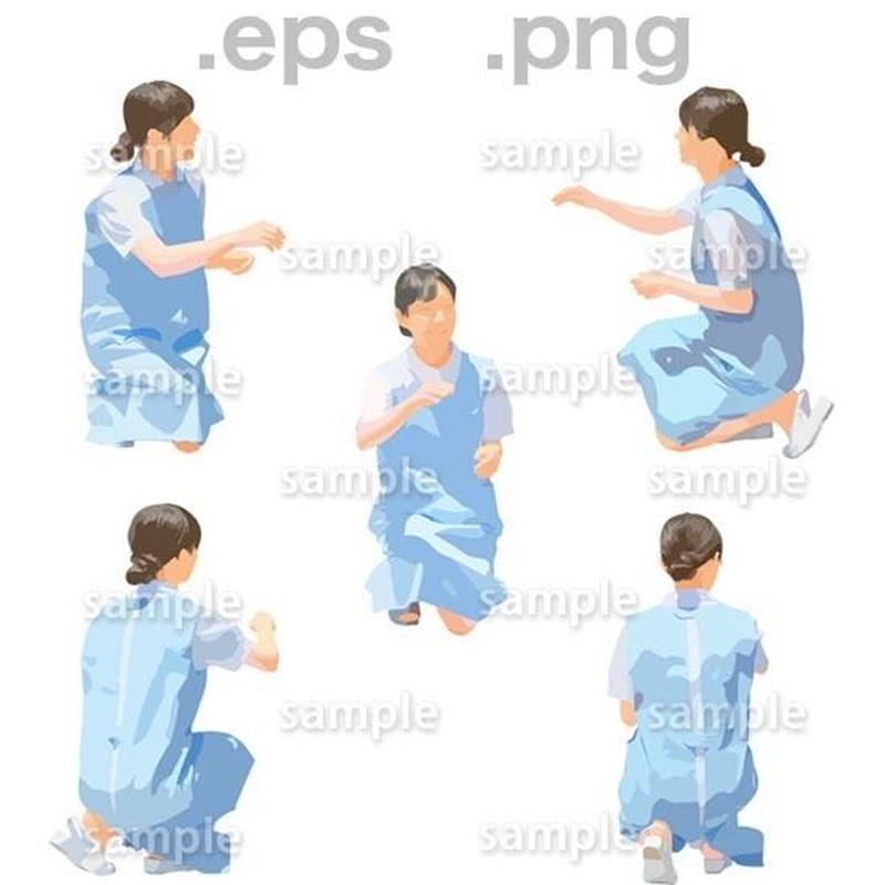 介護スタッフイラスト (EPS , PNG )   se_266
