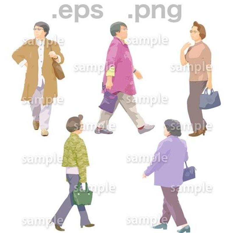 シニアイラスト (EPS , PNG )   se_073