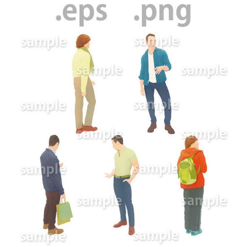 外国人イラスト (EPS , PNG )   gl_006