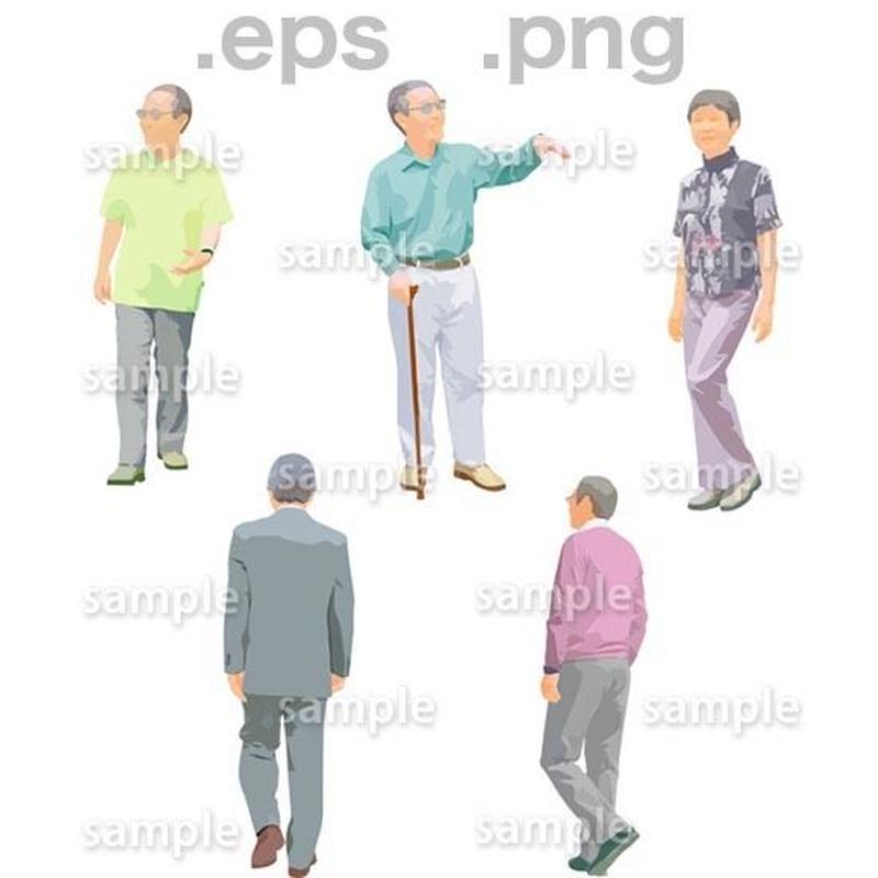 シニアイラスト (EPS , PNG )   se_142